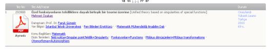 Özel fonksiyonların tekilliklere dayalı birleşik bir teorisi üzerine [Unified theory based on singularities of special functions]